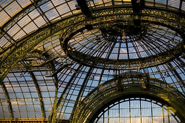 The glass roof of the Grand Palais