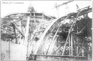 Construction de la charpente du Grand Palais